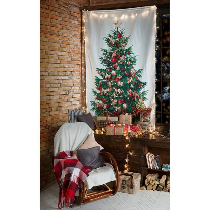 "Праздничная штора ""Новогодняя елка"", 140 х 230 см"