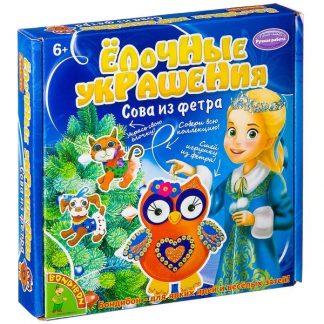 """Набор для шитья из фетра """"Елочные украшения"""" - Сова"""