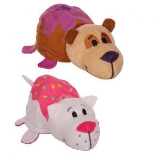 """Мягкая игрушка Панда-Кошечка """"Вывернушки Ням-ням"""", 12 см"""