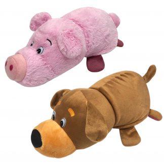 """Мягкая игрушка 2 в 1 """"Вывернушка"""" - Собака-Свинья, 35 см"""