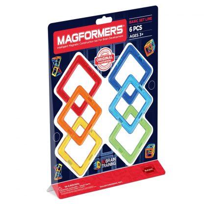 Магнитный конструктор Magformers - Квадраты, 6 деталей