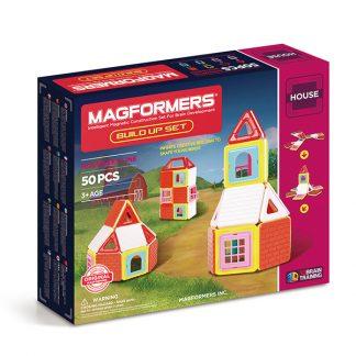Магнитный конструктор Magformers Build Up Set - Дом, 50 деталей