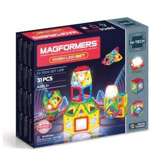 Магнитный конструктор Magformers - Neon Led, 31 деталь